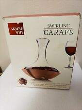 Vacu Vin Swirling Crystal Wine Carafe & Decanter Cork Base Revolving vacuvin