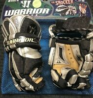 "NEW WARRIOR THE SHOCKER 12"" LACROSSE GLOVES BLACK & SILVER"