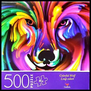 500 Piece Jigsaw Puzzle Cardinal 14 in x 11 in - Colorful Wolf