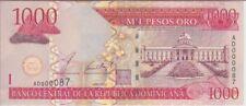 DOMINICAN REPUBLIC P173 1000 1,000 1.000 PESOS 2002 LOW SERIAL NUMBER, UNC