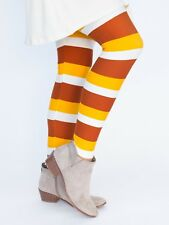 NWT Agnes and Dora Candy Corn Color Leggings in Size Large