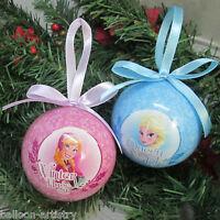 4 Disney's Frozen Christmas Elsa Anna Balls Baubles Hanging Tree Decorations