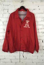 Vintage 90s Mens Alabama Crimson Tide Chalk Line Elephant Jacket X-Large XL  C18