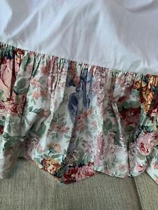Vintage Ralph Lauren Allison Floral Bed Skirt Dust Ruffle King NICE!! Retired