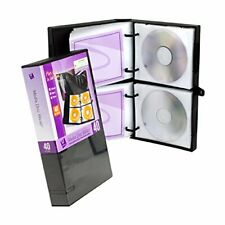 UniKeep Disc 40 CD/DVD Wallet with 40 Pages - Pack of 3