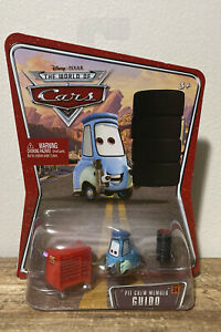 Disney Pixar Cars WOC Pit Crew Member Guido With Drill, Tool Chest, & Tires Rare