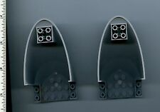 LEGO x 2 Light Bluish Gray Aircraft Fuselage Curved Aft Section 6 x 10 Bottom