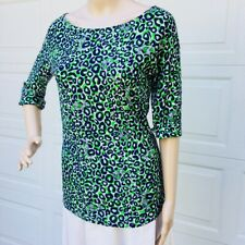MINT! Lilly Pulitzer M Cassie Top Shirt Tee Leopard Print Thrill Of The Chase