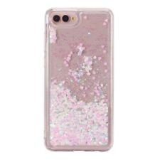 For iPhone Huawei Soft Case Glitter Stars Dynamic Liquid Sand Quicksand Hybrid