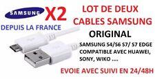 Lot de deux cables ORIGINAL SAMSUNG S5/S6/S6 Edge/ S7/ S7 Edge envoi RAPIDE 1m
