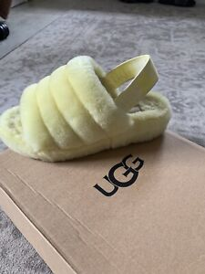 Pastel Yellow Ugg Sliders/slippers UP