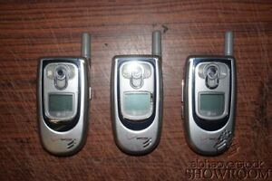 Lot of 3 Used & Untested LG VX6100 Flip Phones For Parts Or Repairs Only