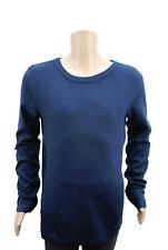 Boys Ex H&M Long Sleeve T-Shirt Top Organic Cotton Navy Age 4 to 15 Years Kids