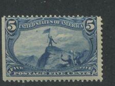1898 Us Stamp #288 5c Mint Hinged Average Original Gum Catalogue Value $90