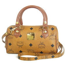 Sale! Auth MCM Vintage Monogram Leather Mini 2WAY Shoulder Hand Bag F/S 8924bkac