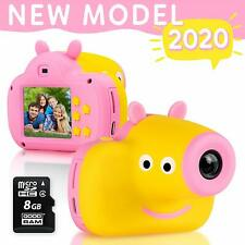 Cute Digital Camera for Kids - 8GB SD Card Included - Adorable Piggy Design