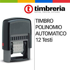 TIMBRO POLINOMIO AUTOMATICO 12 DICITURE: COPIA, NON TRASFERIBILE, PAGATO, Ecc.