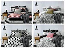 Bettwäsche Bettbezüge zweiseitig Microfaser schwarz weiß weich modern Hypnosis