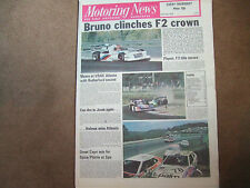 Motoring News 27 July 1978 Spa 24 Hours Calderford Rally Malcolm Wilson F2 Enna