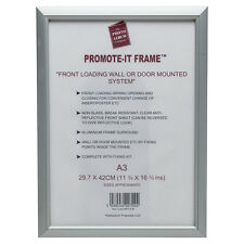 A3 Snap Picture Display Holder Shop Frames Posters Silver Pub Boards Retail