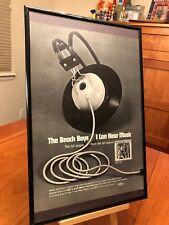 Big 11X17 Framed The Beach Boys 20/20 & I Can Hear Music Lp Album Cd 45 Promo Ad