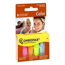 Ohropax Color 8 Stück in praktischer Box Ohrstöpsel Festival Konzert Party Lärm