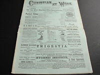 """Antique Newspaper """"Christian at Work""""  January,1889, Issued Weekly, NY. OLD!!!!"""