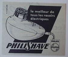 Publicité ancienne Rasoir Philips, Philishave, 1951 , advert