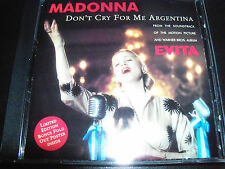 Madonna Don't Cry For Me Argentina Australian Poster Pack CD Single - Like New