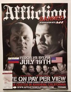 FEDOR EMELIANENKO Signed Pride UFC Strikeforce BELLATOR Poster 18x24.WITNESS JSA