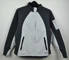 L L Bean Soft Shell Jacket Women XL Grey Fleece Fullzip Coat Hiking UK18 RA26h