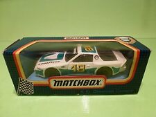 MATCHBOX K-10  CHEVROLET CAMARO - RACE No 18 -  WHITE - EXCELLENT IN BOX