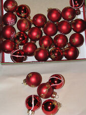 Vintage Style Lot of Assorted Red Featherweight Christmas Tree Ornaments