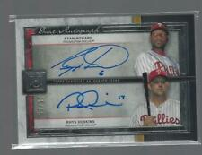 RYAN HOWARD RHYS HOSKINS DUAL AUTO ON CARD 15/15 2020 TOPPS MUSEUM BASBEALL