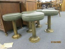 Antique Soda Fountain/Drug Store swivel cast iron stools vintage 1930's set of 6