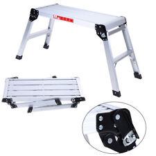 Ladder Work Platform Aluminium Bench Folding Step Hop Up Metal Painting Car