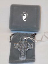 Waterford Celtic Cross Ornament 1st Edition Case + Pouch Holiday Christmas Irish