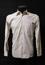 Camisa hombre de vestir. Blanco - rayas  Talla 38