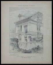 CHATILLON, HOTEL PARTICULIER - 1906 - PLANCHES ARCHITECTURE - GOMETZ LE CHATEL