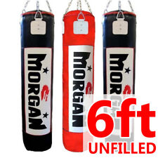 MORGAN 6 ft / 180cm punching boxing bag UNFILLED kick kicking box punch heavy