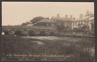 Postcard Christchurch near Bournemouth Dorset early view of Old Norman Bridge RP