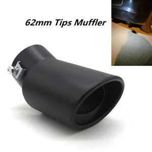 Stainless Steel Black Bend Pipe Car Exhaust Pipe Muffler Tip Tail Throat 62mm