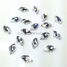 4 PZ SWAROVSKI 2709 Rhombus Flatback Strass 10 x 6 mm Cristallo Chiaro (001)