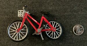 AK247:Dollhouse Miniature - Lundby Diecast Red Bicycle