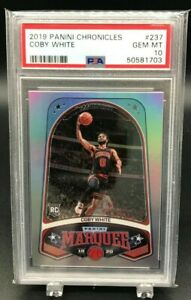2019 PANINI CHRONICLES MARQUEE COBY WHITE GEM MT PSA 10 (8181