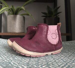 Clarkes Girls Size 5 G  22eu Purple Winter Bunny Boots