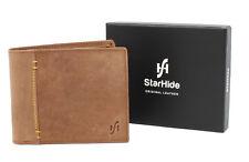 Starhide RFID BLOCKING Mens Distressed Hunter REAL Leather Wallet 1055 Brown