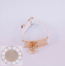 Michael Kors Gold Tone White Leather Bracelet MKJ3310, New