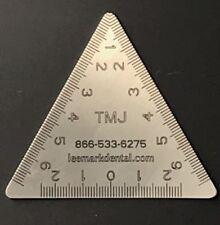TMJ TriMeasure Dental instrument ruler Tri-measure Autoclavable stainless steel