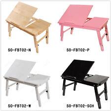 SoBuy® Table de lit pliable double plateaux en bois,pr PC portable/iPad,FBT02 FR